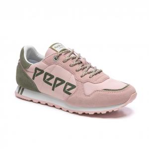 Deportiva PEPE JEANS rosa logo kaki