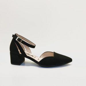 Zapato GADEA tacon medio pulsera negro