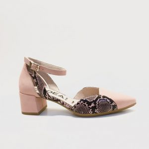 Zapato GADEA tacon medio pulsera rosa animal print