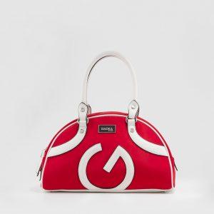 bolso de mano GADEA rojo y blanco