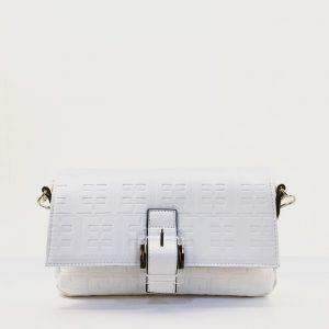 Bolso bandolera eferri blanco logo en relieve