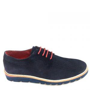 Zapato caballero RODIA con cordones en rojo