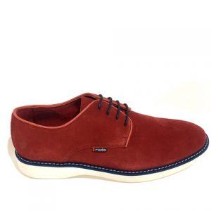 Zapato RODIA caballero rojo con detalles azul marino