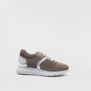 deportivo, mujer, taupe, confort