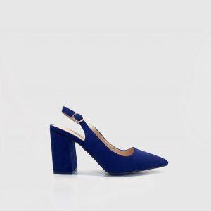 Zapato, salon, destalonado, tacón, azulon