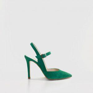 Zapato, tacón, LODI, verde