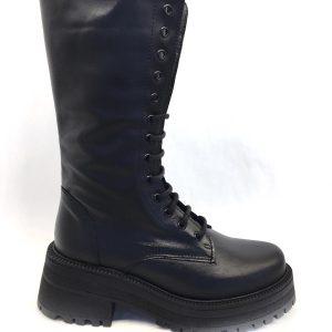 Bota Belang militar negro cordones