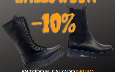 HALLOWEN 10 % en el calzado negro