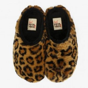zapatilla de casa HOT POTATOES animal print