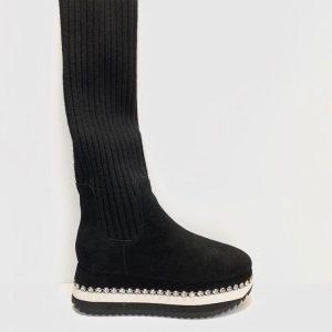 Bota calcetín Alma en Pena negro