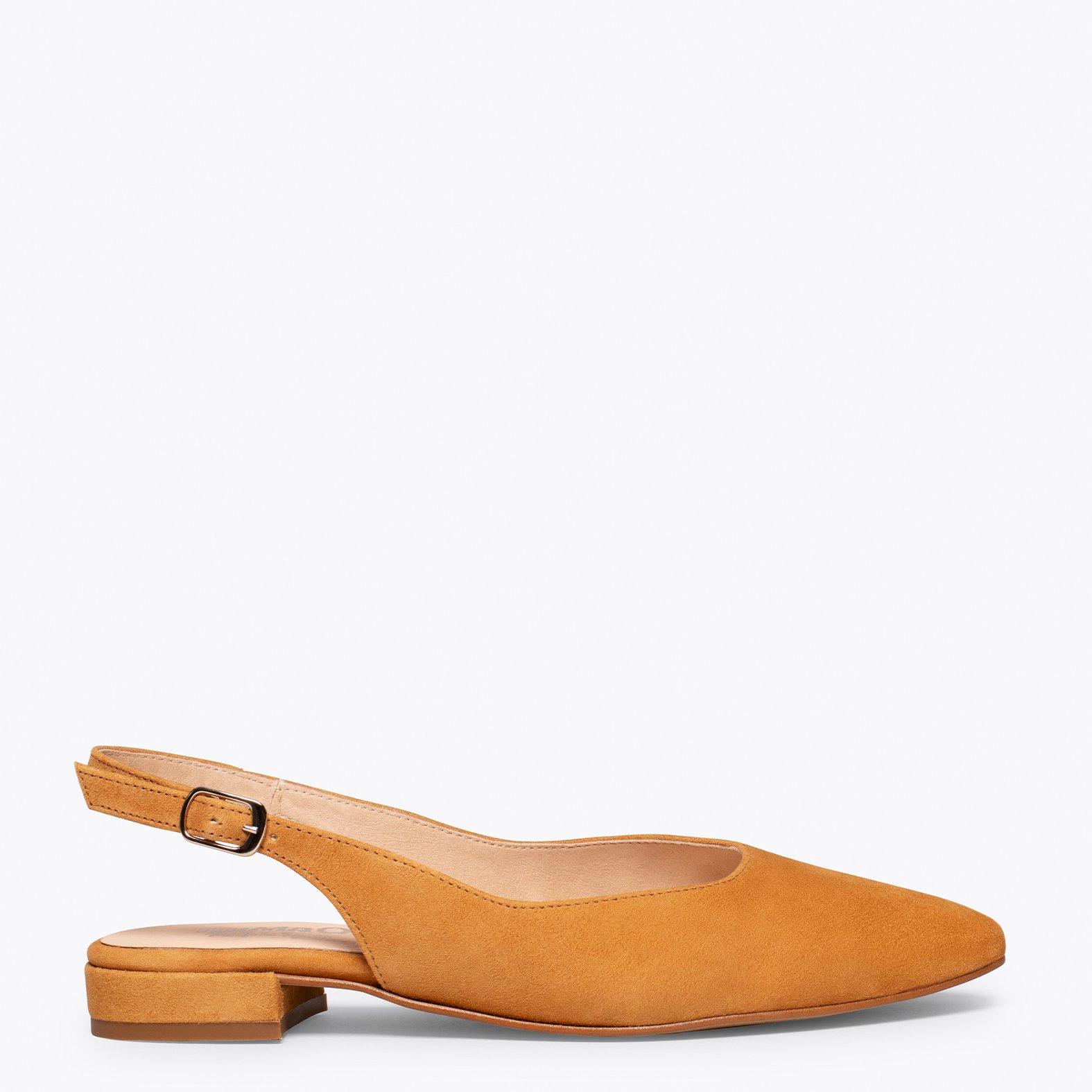 BRUNCH Zapato plano destalonado CAMEL
