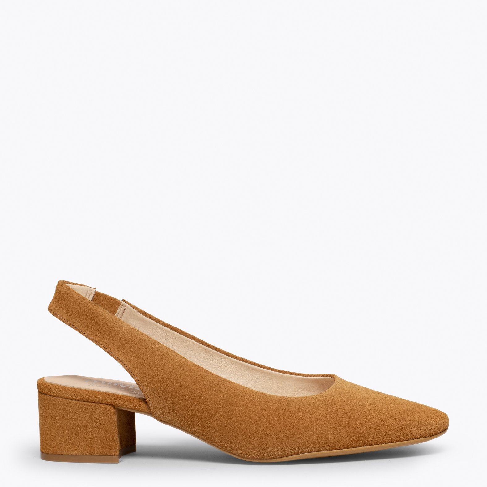 LADY Zapato destalonado con puntera cuadrada CUERO