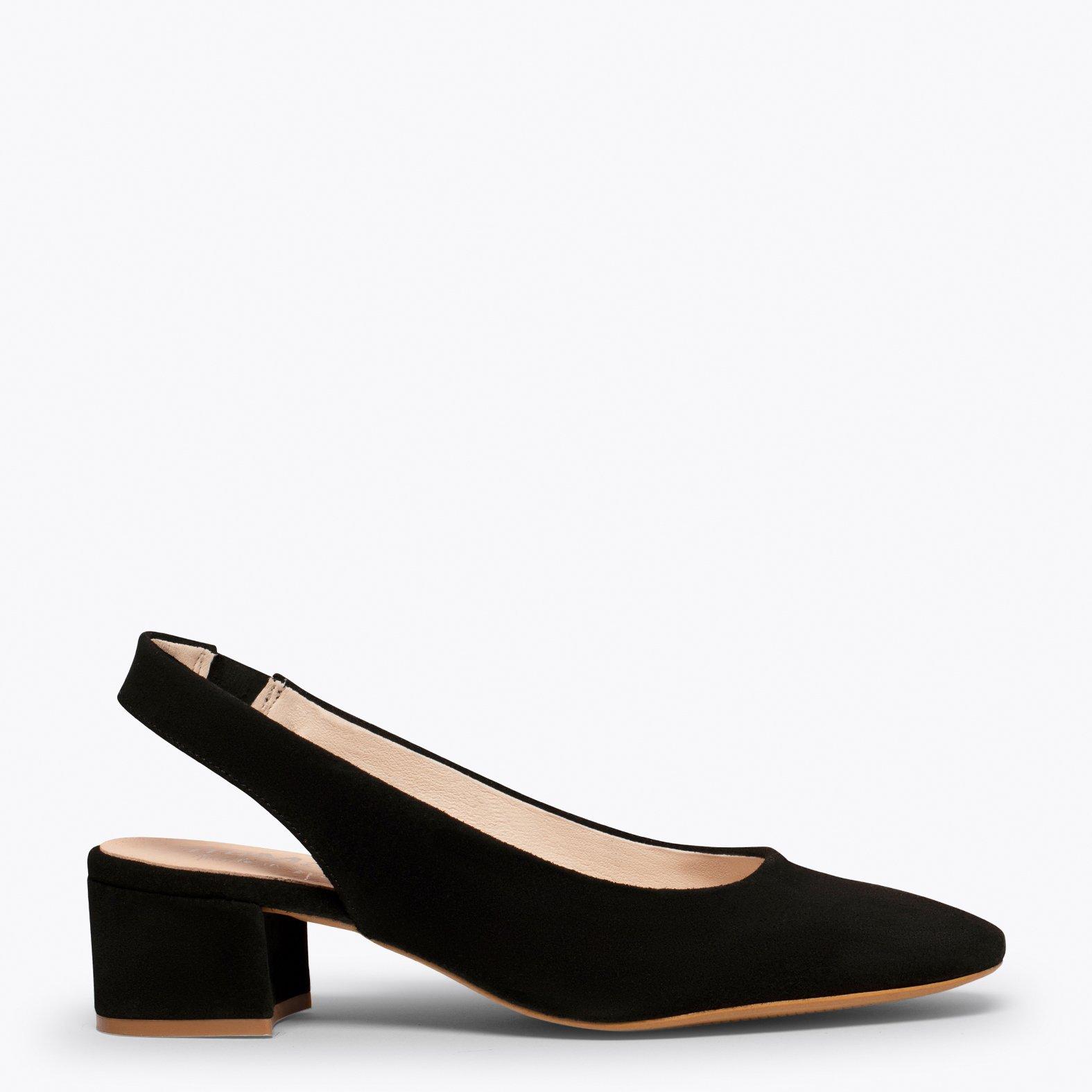 LADY Zapato destalonado con puntera cuadrada NEGRO