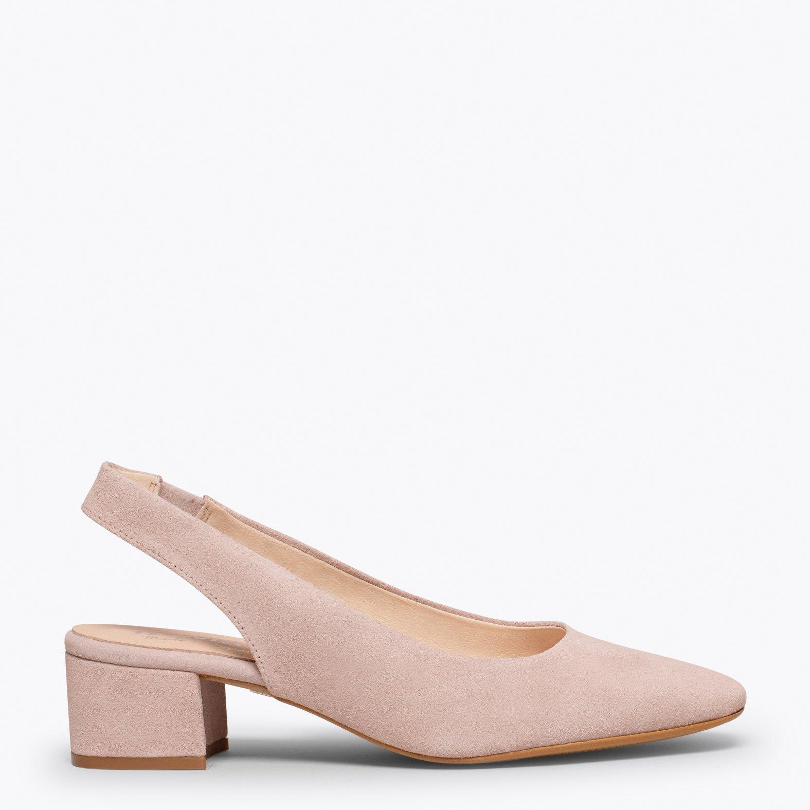 LADY Zapato destalonado con puntera cuadrada ROSA PALO