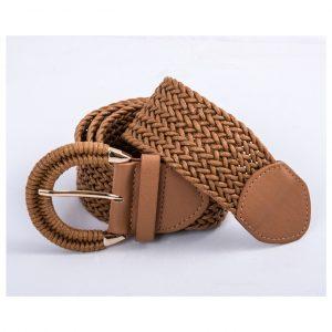 Cinturón trenzado cuero