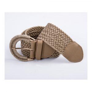 Cinturón trenzado taupe